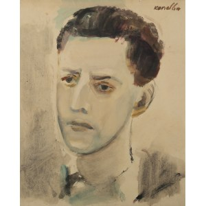 Rajmund Kanelba (1897 Warszawa - 1960 Londyn), Portret mężczyzny