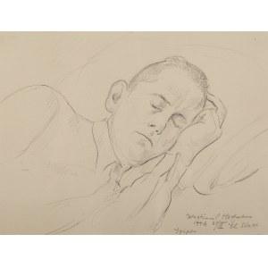 Wlastimil Hofman (1881 Praga - 1970 Szklarska Poręba), Śpiący, 1946 r.