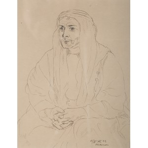 Wlastimil Hofman (1881 Praga - 1970 Szklarska Poręba), Arab, 1943 r.