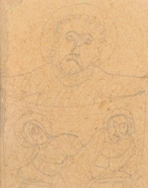 Nikifor Krynicki (1895 Krynica-1968 Folusz), Święci - tryptyk
