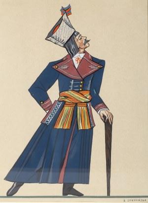 Zofia Stryjeńska (1891 Kraków - 1976 Genewa), Mężczyzna w stroju ludowym z Wilanowa, 1939 r.