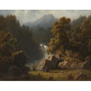 Otto Press (aktywny 1866-1888), Wędrowiec w górach