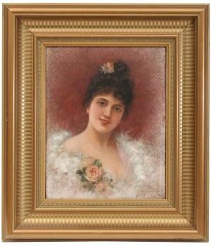 Emile Eisman-Semenowsky (1857 Polska – 1911 Paryż ?), Młoda dama w futrze