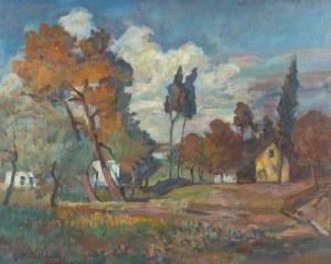 Zdzisław Przebindowski (1902 Kraków - 1986 tamże), Pejzaż z Kalwarii