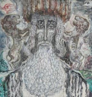 Zdzisław Lachur (1920 Zagórz - 2007 Warszawa), Portret Żyda, 1994 r.