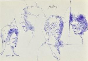 Roman BANASZEWSKI (1932-2021), Szkice popiersia kobiet i mężczyzn