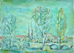 Henryk KRYCH (1905 – 1980), Pejzaż z mostem