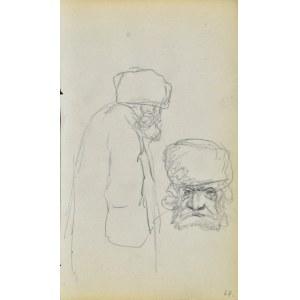 Jacek MALCZEWSKI (1854-1929), Szkice postaci i głowy sędziwego meżczyzny