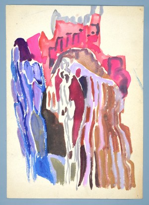 Janina MUSZANKA - ŁAKOMSKA (1920-1982), Skała - Kompozycja abstrakcyjna, ok. 1960