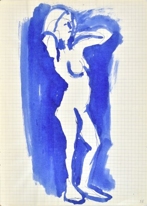 Jerzy PANEK (1918-2001), Akt stojący z uniesionymi rękami