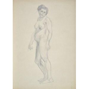 Kasper POCHWALSKI (1899-1971), Akt stojącej kobiety, 1954