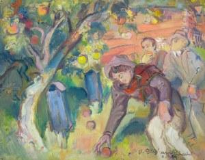 Kasper POCHWALSKI (1899-1971), W zagrodzie - wrzesień 1939 z cyklu Exodus, 1964