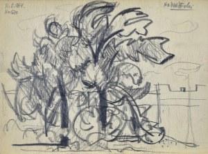 Kazimierz PODSADECKI (1904-1970), Pejzaż z drzewami, 1964