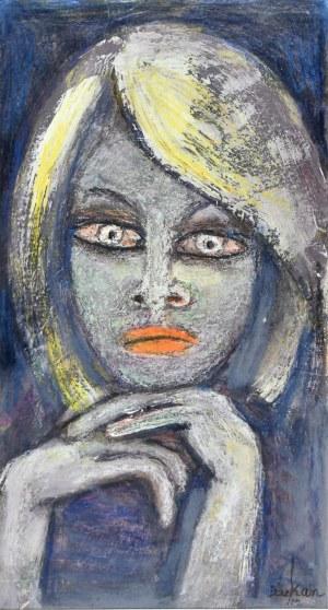Eugeniusz TUKAN - WOLSKI (1928-2014), Zamyślona kobieta