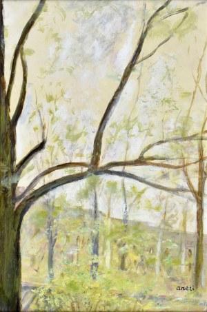 ANERI Irena Weissowa (1888-1981), Pejzaż z drzewami, ok. 1965