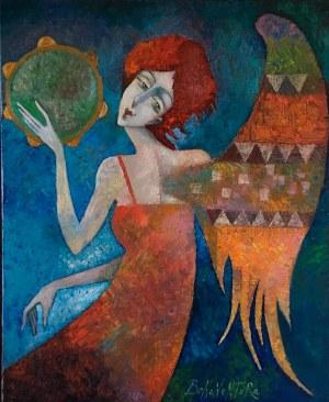 Jan Bonawentura Ostrowski, ANIOŁ 100 x 81 cm.