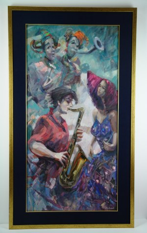 Tomasz Bachanek, PLAY, PAY AND KEEP DISTANCE 3, 100 x 50 cm.