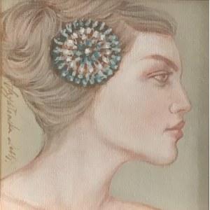 Katarzyna Szydłowska, 20 x 20 cm.