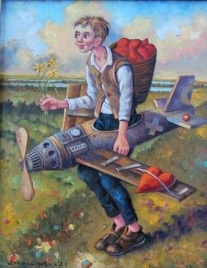 Dariusz Miliński, KOCHAŚ Z GÓRY SZYBOWCOWEJ, 40 x 50 cm.