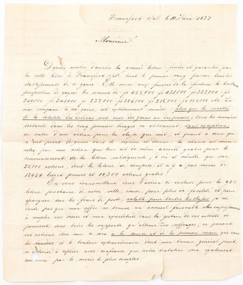 LIST, Frankfurt, 10.06.1837