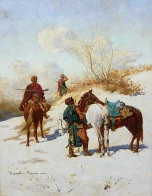 Władysław Karol Szerner (1870 Szebenice –1936 tamże), Patrol kozacki
