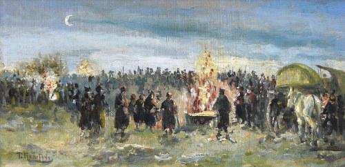 Artysta nieokreślony (XIX/XX w.), Palenie sztandarów