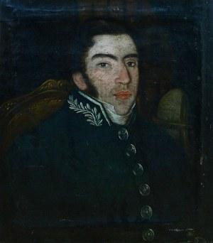 Julian Zawodziński (1806 Częstochowa-1890), Portret Oficera Wojsk Królestwa Polskiego, 1830 r.