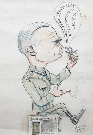 Mieczysław Rolecki, Karykatura oficera, 1947 r.