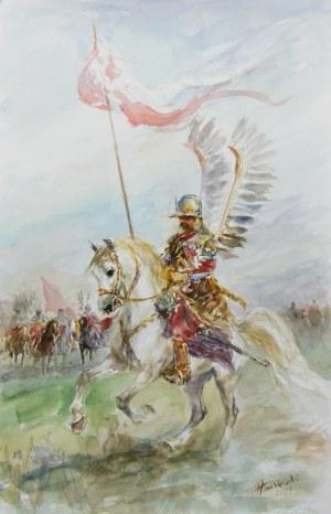 Zenon Aniszewski (ur. 1948 r. Grudziądz), Husarz na koniu, 2021 r.