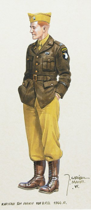 Jarosław Wróbel (ur. 1962 r.), Kapitan 101 Dywizji Powietrznodesantowej Armii USA