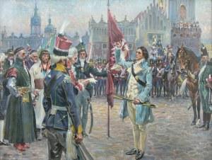 Wojciech Kossak (1856 Paryż - 1942 Kraków), Przysięga Kościuszki, 1911 r.