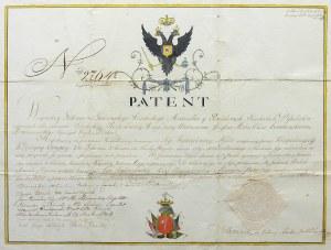 PATENT DLA JÓZEFA ZEMBRZUSKIEGO HERBU OKSZA NA POTWIERDZENIE SZLACHECTWA, 1802 r.