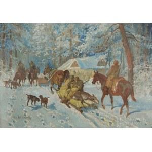 Jerzy POTRZEBOWSKI (1921-1974), Powrót z polowania