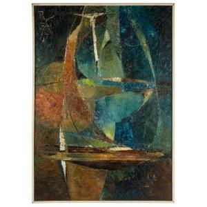 Ryszard Zając (1929 Kosów Huculski – 2016 Binningen k. Bazylei), Kompozycja niebieska, 1967