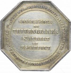 Francja, Żeton barbórkowy 1841 - srebro