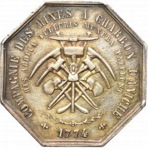 Francja, Żeton towarzystwa górników Chabron d`Aniche 1774 - srebro