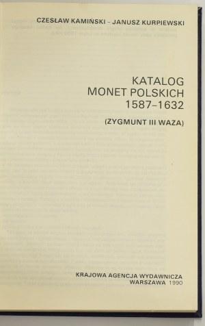 Kamiński-Kurpiewski, Katalog monet polskich, tom Zygmunt III Waza - w twardej oprawie