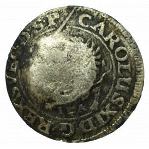 Szwedzka okupacja Pomorza, Karol, 1/48 talara 1690 - kontrmarkowana Szczecin