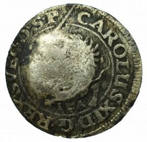 Swedish occupation of Pommern, Carol, 1/48 thaler 1690 - Stettin countermark