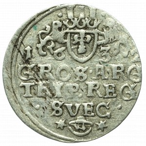 Szwedzka okupacja Elbląga, Gustaw Adolf, Trojak 1632 - szwedzki
