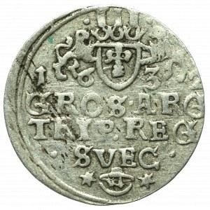 Swedish occupation of Elbing, Gustav Adolph, 3 groschen 1632