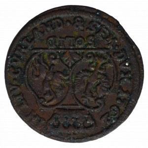 Duchy of Courland, Karl Christian, Schilling 1762 Mitau