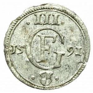 Germany, Preussen, Georg Friedrich, Dreier 1591, Konigsberg