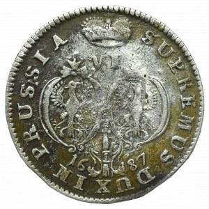 Prusy Książęce, Fryderyk Wilhelm, Szóstak 1687, Królewiec