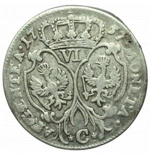 Germany, Preussen, Friedrich II, 6 groschen 1757, Konigsberg