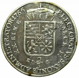 Germany, Saxony, Friedrich Xavery, Gulden 1766