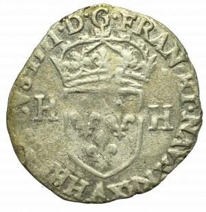 France, Henri IV, Douzain 1596, Rouen