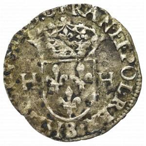 France, Henri III, Douzain 1577, Rouen