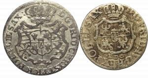August III Sas i Fryderyk Chrystian, Zestaw 1/12 i 1/24 talara 1763