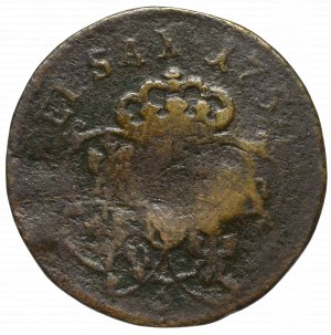 August III Sas, Grosz 1754 - kontrmarka F